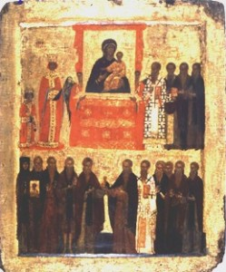 Sunday-of-Orthodoxy - (St. Methodios is to the right of the icon)